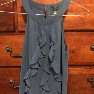 Ann Taylor slate blue sleeveless halter.  Size 4P